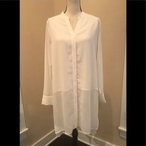 Soft Surroundings Long Sleeve Ivory Duster Blouse